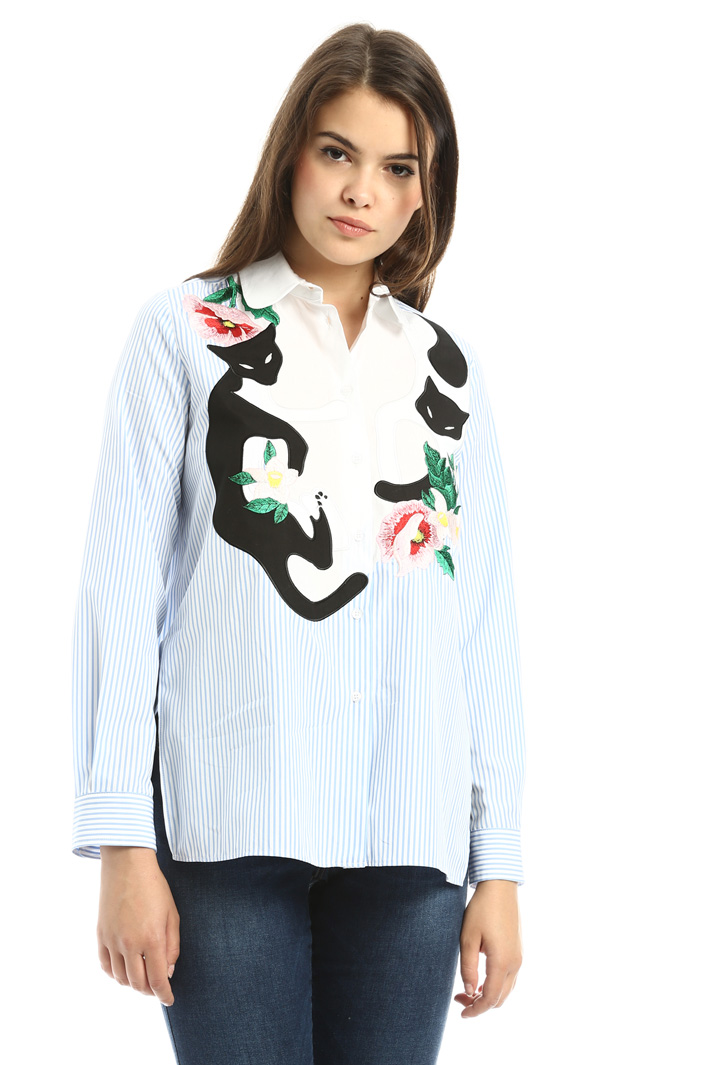Camicia con decoro Diffusione Tessile
