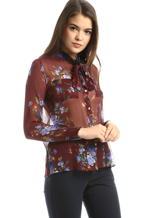 Semi-sheer printed shirt Diffusione Tessile