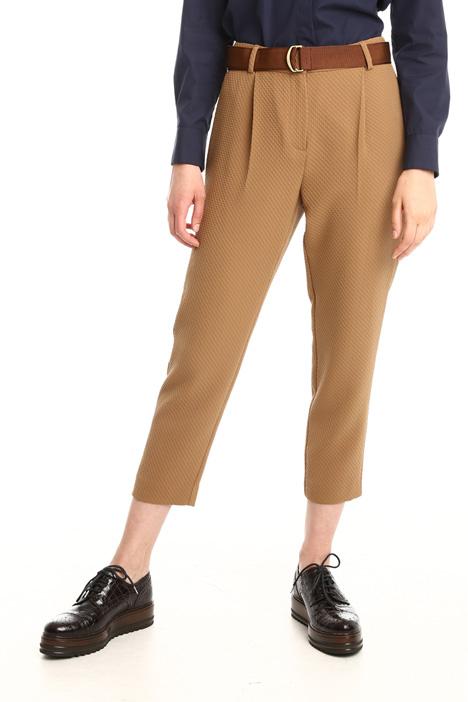 Pantaloni in tessuto a rilievo Diffusione Tessile