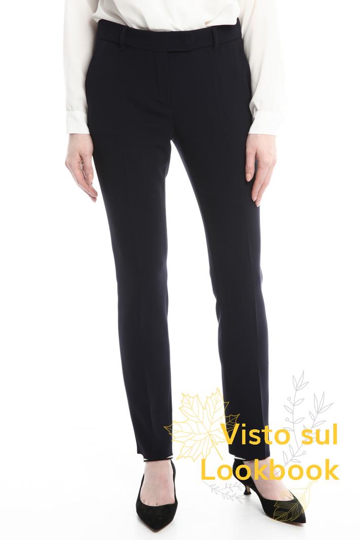 Pantaloni a sigaretta in cady Diffusione Tessile