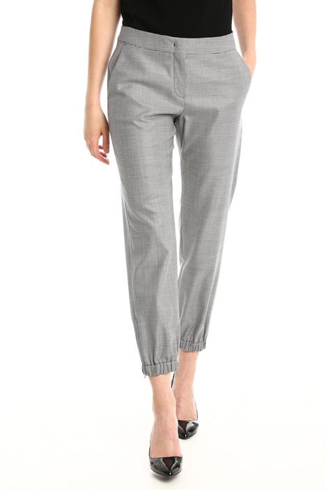 Pantaloni in lana e seta Diffusione Tessile