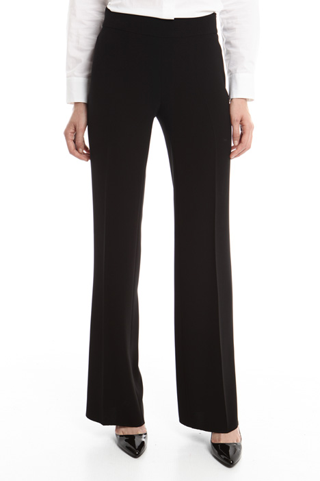 Straight leg cady trousers Diffusione Tessile