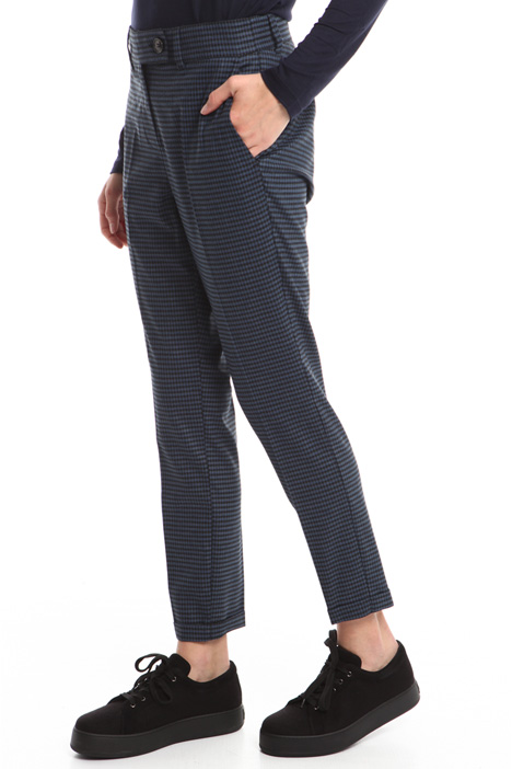 Yarn-dyed stretch trousers Diffusione Tessile