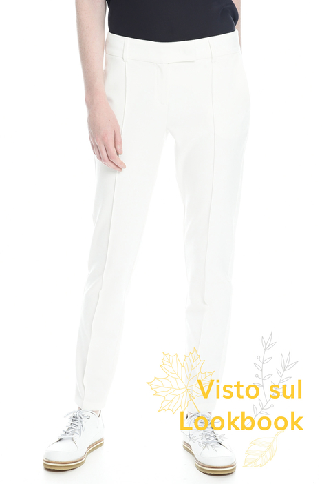 Trousers with crease lines Diffusione Tessile