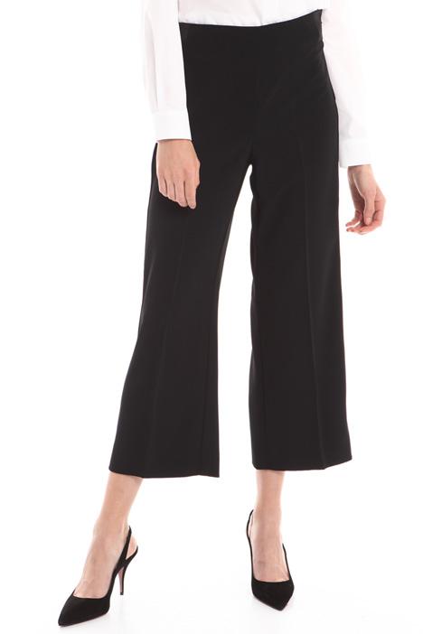 Pantalone cropped in crepe Diffusione Tessile