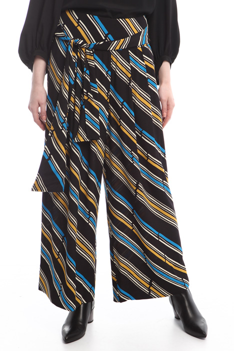 Patterned crepe trousers Diffusione Tessile
