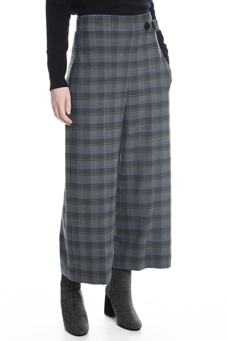 Cropped checked trousers Diffusione Tessile