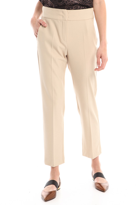 Stretch crepe trousers Diffusione Tessile