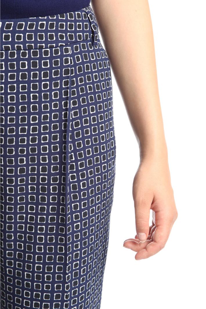 Pantaloni a sigaretta stampati Diffusione Tessile