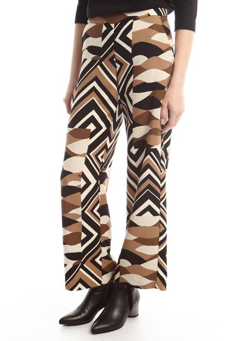 Pantalone dritto a fantasia Diffusione Tessile