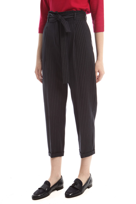 Pantaloni cropped con risvolto Diffusione Tessile