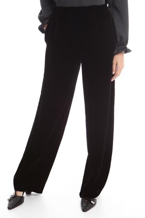 Pantaloni palazzo in velluto Diffusione Tessile