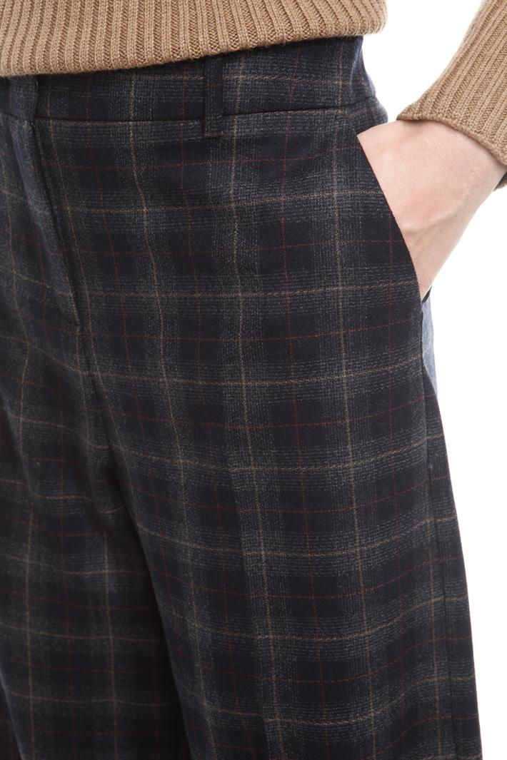 Check flannel trousers Diffusione Tessile