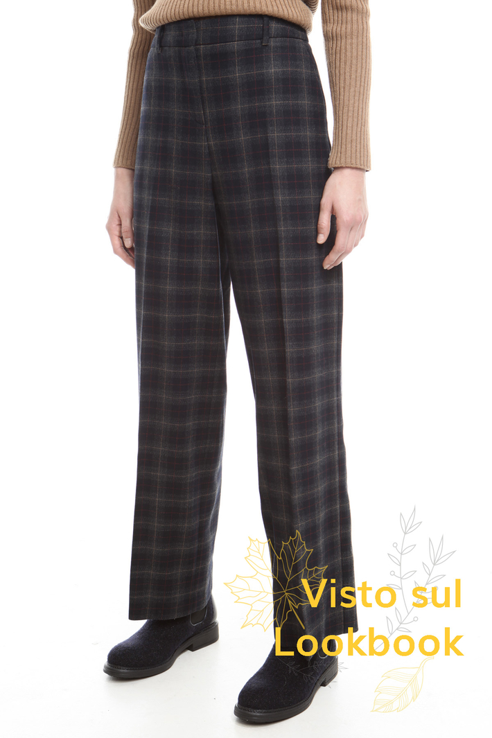 Check flannel trousers Diffusione Tessile