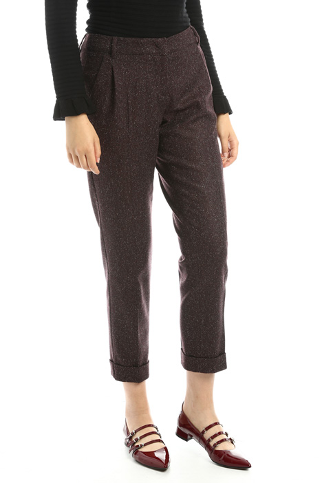 Pantaloni in tweed di lana Diffusione Tessile