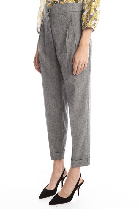 Flannel carrots trousers Diffusione Tessile