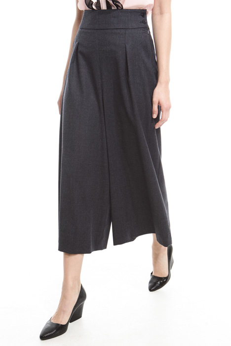 Cropped trousers in flannel Diffusione Tessile