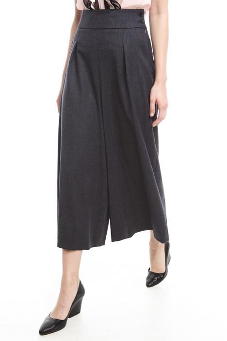 Pantaloni cropped in flanella Diffusione Tessile