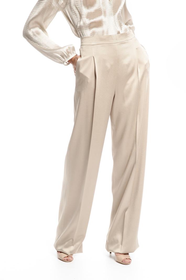 Pantaloni in envers satin Diffusione Tessile