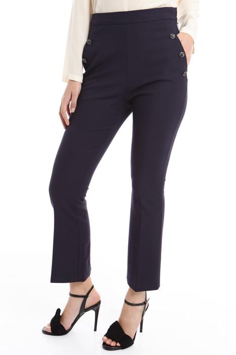 Pantalone con bottoni gioiello Diffusione Tessile