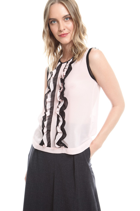 Sleeveless ruffled top Diffusione Tessile