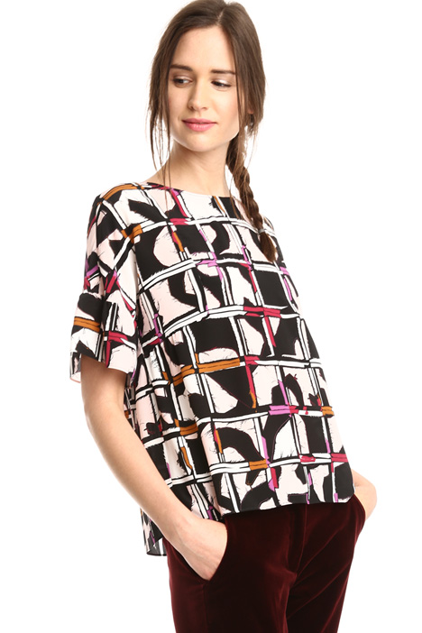 Boxy-fit printed blouse Diffusione Tessile