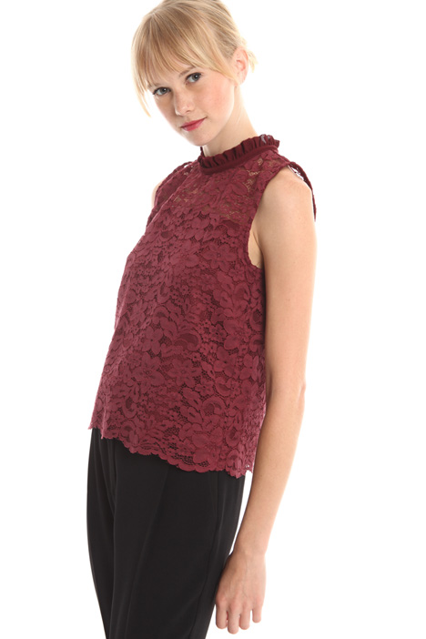 Sleeveless lace top Diffusione Tessile