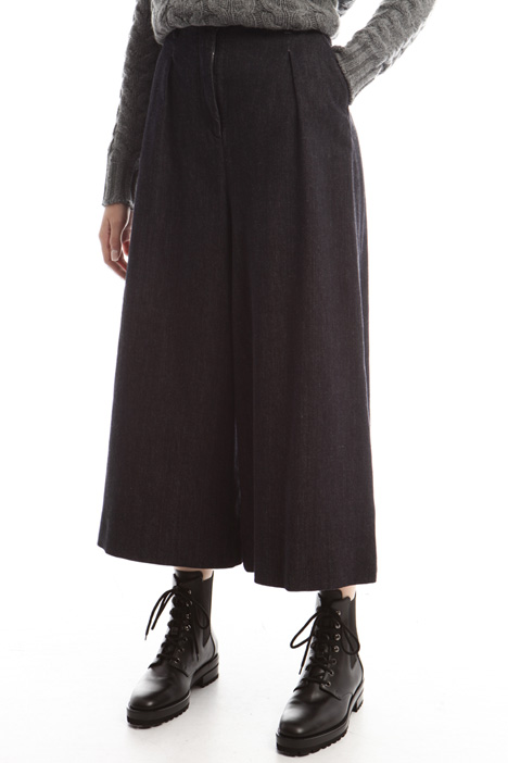 Pantaloni svasati in denim Diffusione Tessile