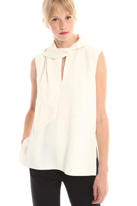 Top in crepe enver satin Diffusione Tessile