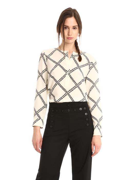 Printed silk blouse Diffusione Tessile