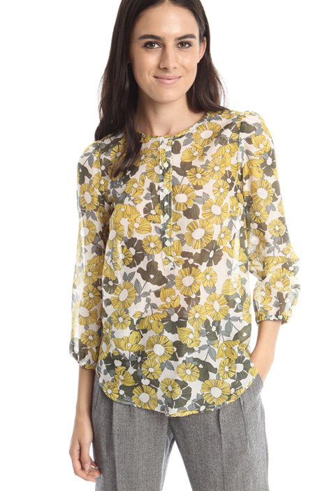 Printed silk blend blouse Diffusione Tessile