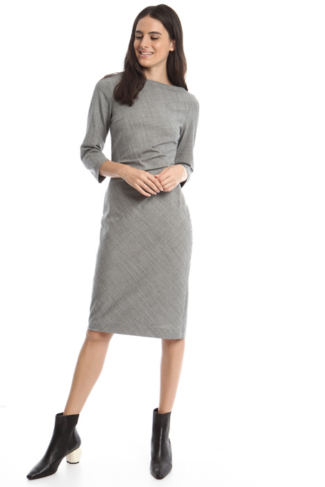 Flannel sheath dress Diffusione Tessile