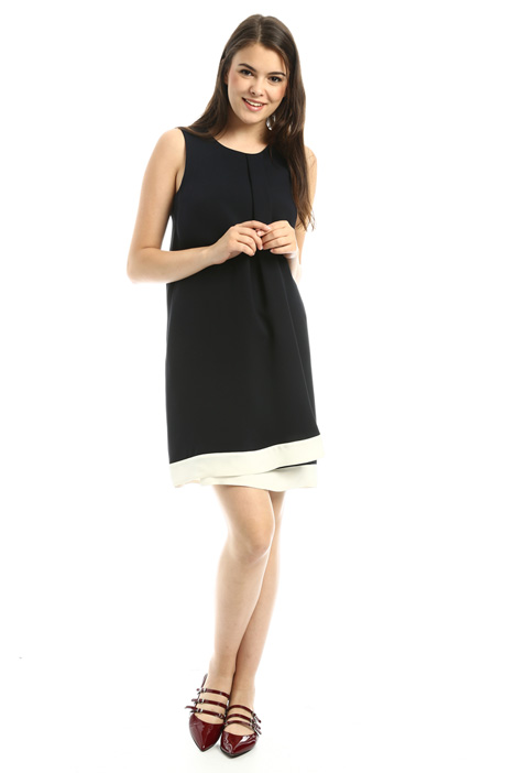 Two-tone silk dress Intrend