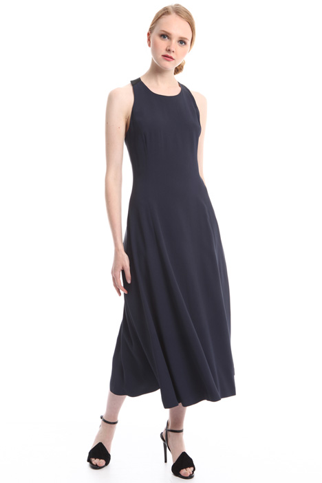 Fit and flare crepe dress Diffusione Tessile