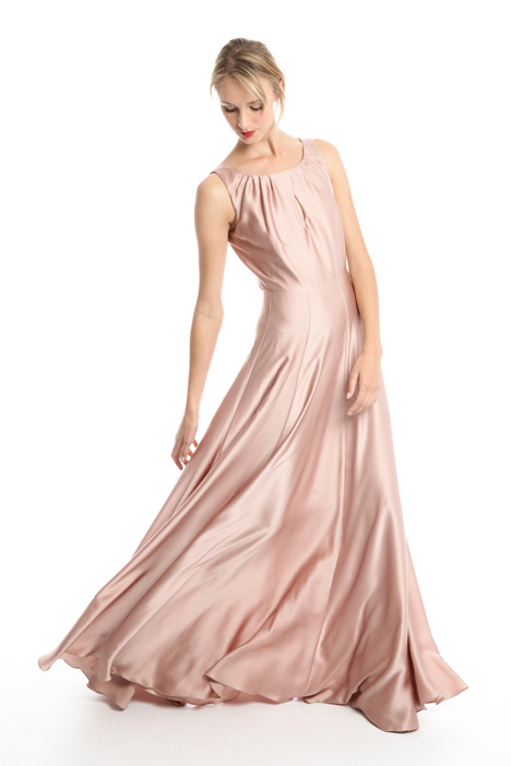 Long satin dress Intrend