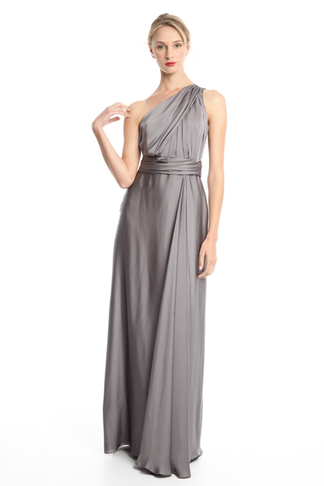One-shouldered silk dress Diffusione Tessile