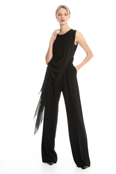 Cady jumpsuit with panel Diffusione Tessile