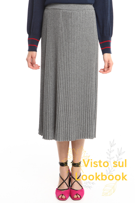 Gonna in maglia plissé Diffusione Tessile
