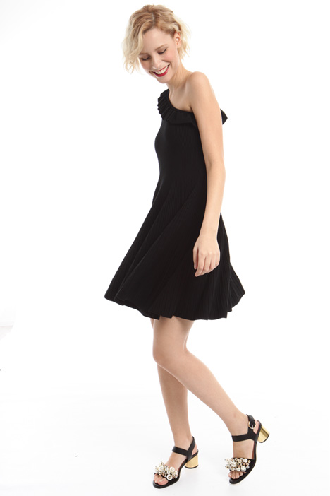 One-shouldered knit dress Diffusione Tessile