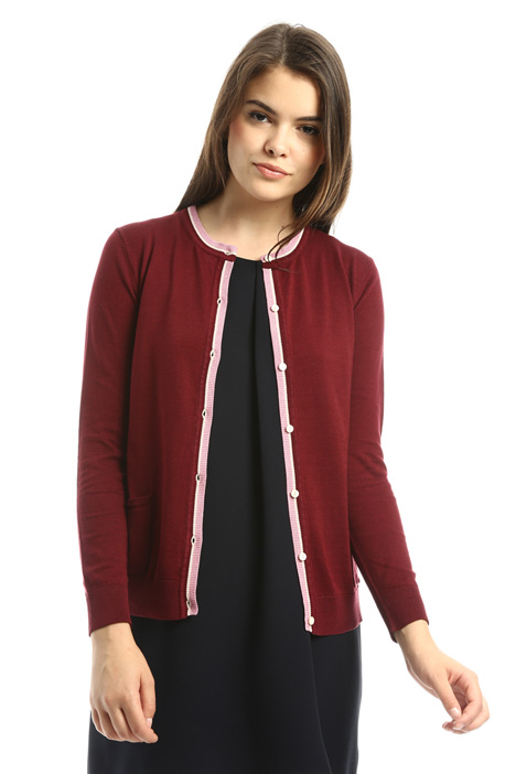 Cotton and silk cardigan Diffusione Tessile