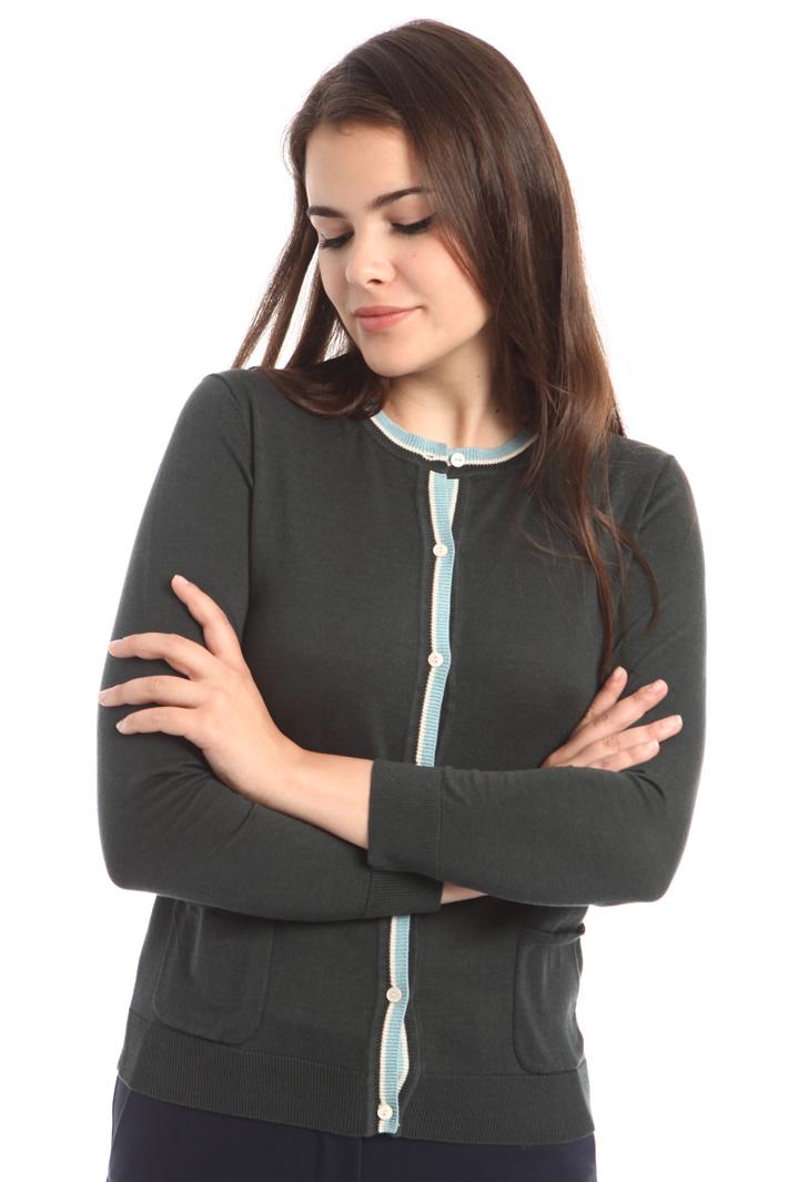 Cardigan in seta e cotone Diffusione Tessile