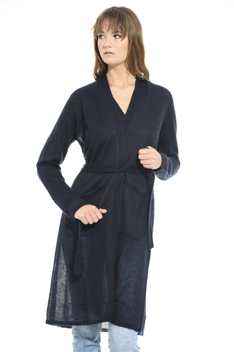 Cardigan lungo in lana Diffusione Tessile