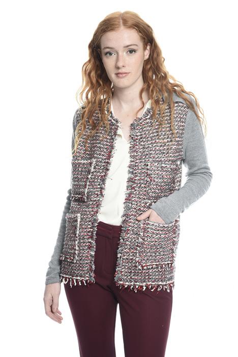 Cardigan aperto in lana Diffusione Tessile