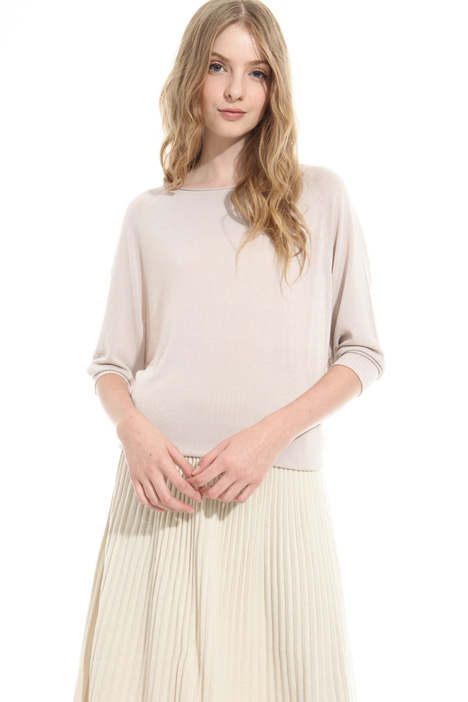 Boxy-fit viscose sweater Diffusione Tessile