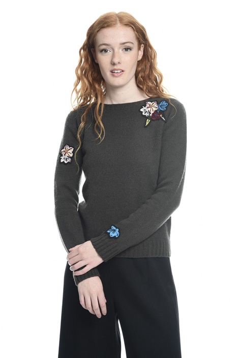 Sweater with embroidery Diffusione Tessile