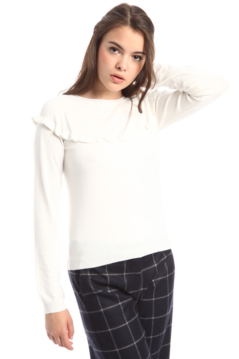 Sweater with frills Diffusione Tessile