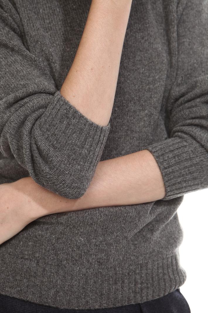 Maglia a collo alto in alpaca Diffusione Tessile