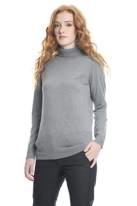 Silk blend turtleneck sweater Intrend
