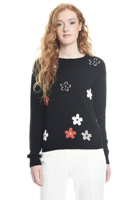 Floral lurex sweater Intrend