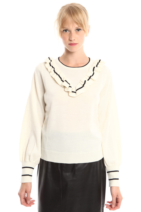 Wool sweater with frills Diffusione Tessile